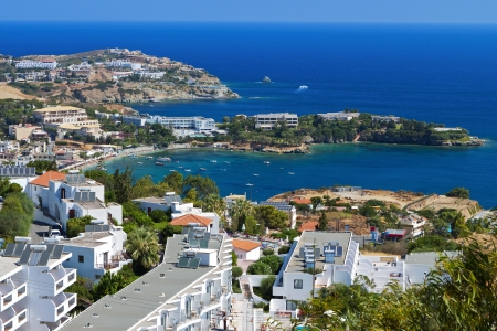 Aghia Pelagia bay at Crete island in Greece Stock Photo