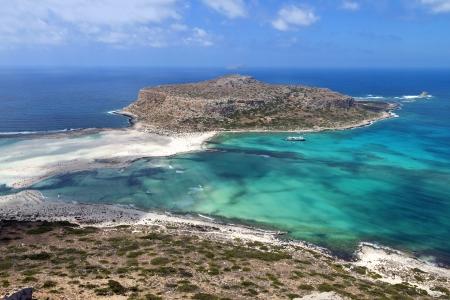 kreta: Balos bay at Crete island in Greece  Area of Gramvousa  Stock Photo