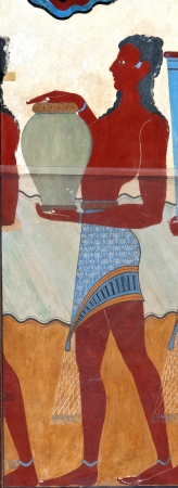 Ancient fresco from Knossos palace at Crete, Greece Stock Photo - 16042677