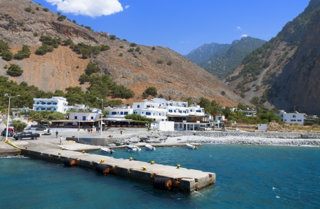 kreta: Aghia Roumeli bay at Crete island in Greece