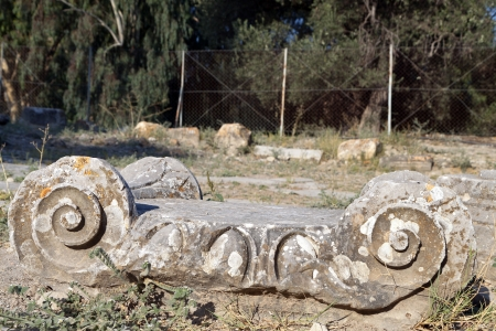archeological: Ancient greek capital of ionic rhythm at Gortys of Crete island in Greece