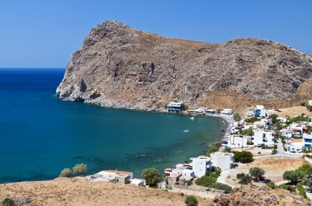 libyan: Lendas bay at Crete island in Greece Stock Photo
