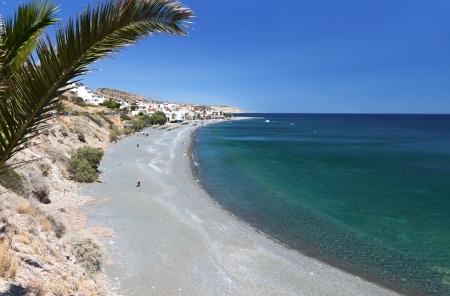kreta: Mirtos bay and beach at Crete island in Greece