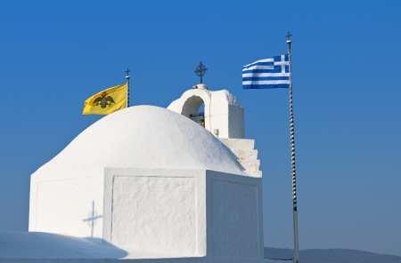 Chapel of Saint Nikolas at the Aegina island in Greece  photo