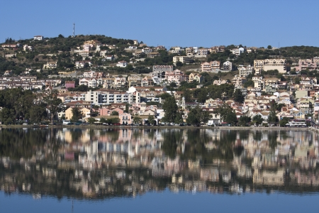 ionio: City of Argostoli at Kefalonia island in Greece