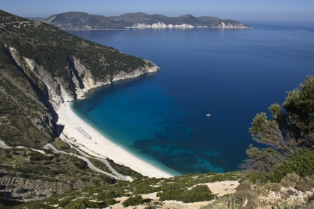 kefalinia: Mirtos beach at Kefalonia island in Greece