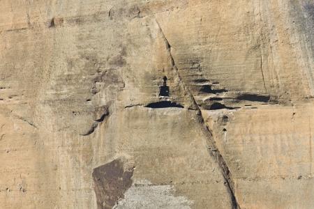 kalabaka: Cavernous rock at Meteora in Greece