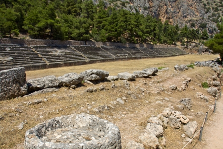 delfi: Ancient stadium at Delfi archaeological site in Greece