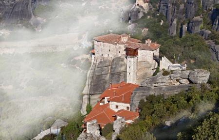 thessalia: Hanging monasteries at Meteora in Greece