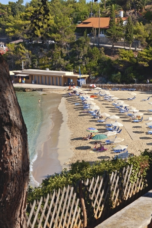 cefallonia: Scenic beach at Kefalonia island in Greece