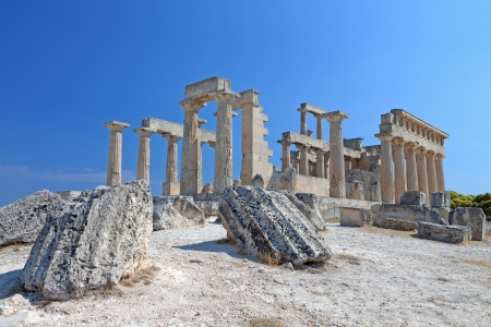 Temple of Aphaea Athena at the Aegina island in Greece Stock Photo - 16070260