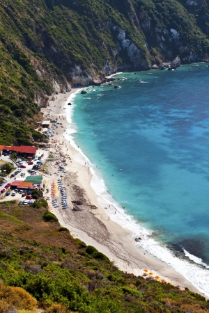 kefallinia: Petany beach at Kefalonia island in Greece