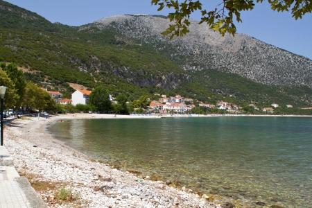 poros: Fishing village of Poros at Kefalonia island in Greece Stock Photo