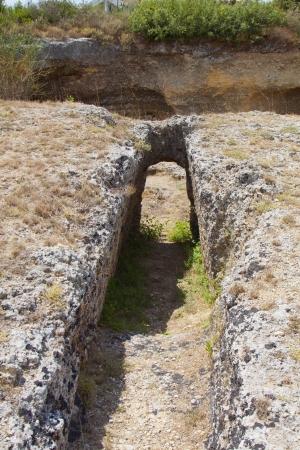 kefallinia: Ancient Mycenaean cemetery at Kefalonia in Greece