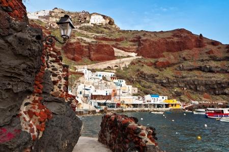 kyklades: Oia village of Santorini island in aegean sea, Greece