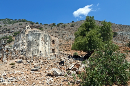 Old church at Aghia Roumeli of Crete island in Greece photo