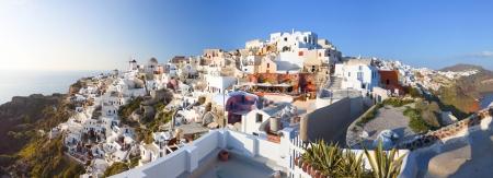 kyklades: Oia village at Santorini island in Greece