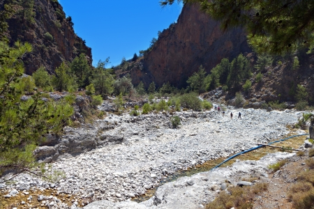 Samaria gorge at Crete island in Greece photo