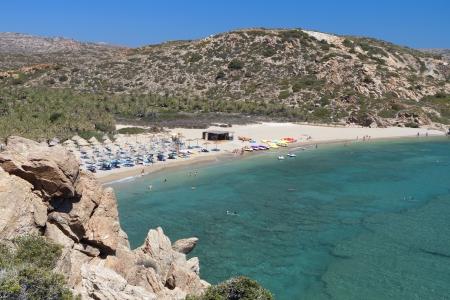 kreta: Vai beach at Crete island in Greece Stock Photo
