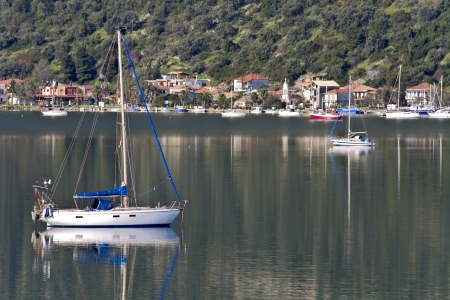 Nydri bay at Lefkada island in Greece Stock Photo - 16088041