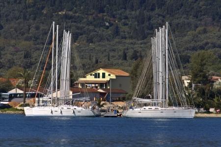 Nydri bay at Lefkada island in Greece Stock Photo - 16088048