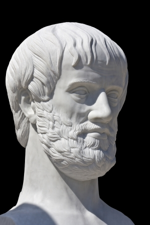 Statue of the Greek philosopher Aristotle