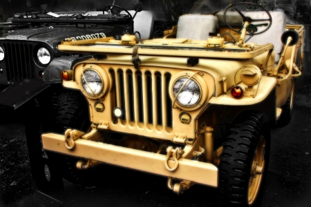 collectible: Collectible old ww2 jeep vehicle