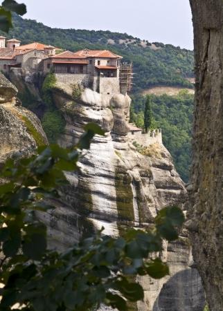 kalambaka: Meteora monasteries at Kalambaka in Greece Stock Photo