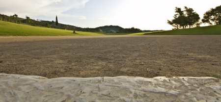 Ancient Olympia in Greece  The stadium photo