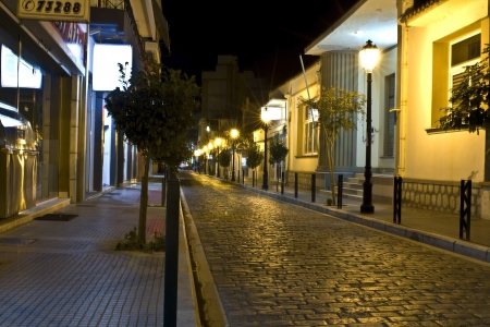 Old stone streets of Komotini city in Greece photo