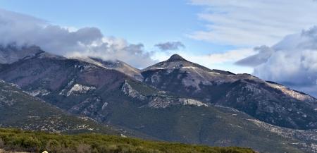 Mountain Paggaion near Kavala city at North Greece