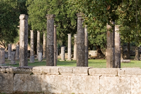 peloponissos: The Palaistra at ancient Olympia in Greece