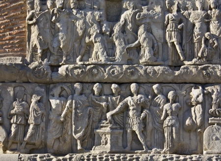 thessaloniki: Relief from Galerius arch at Thessaloniki, Greece