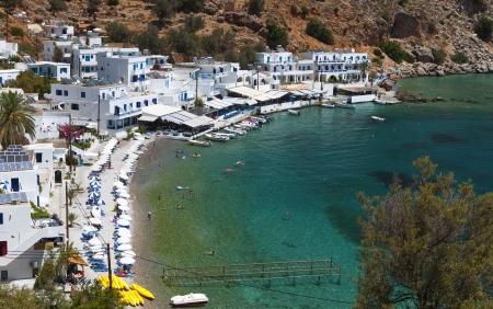kreta: Loutro bay summer resort at Crete island in Greece