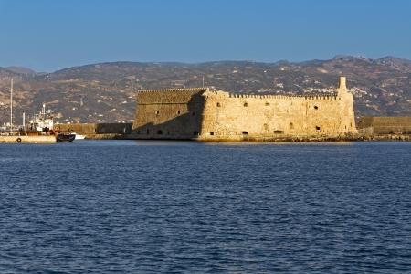 kreta: Heraklio city at Crete island in Greece  The fortress