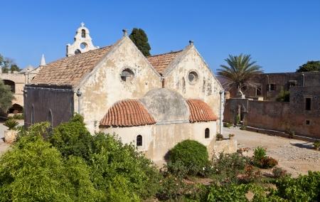 arkady: Arkadiou monastery at Crete island in Greece