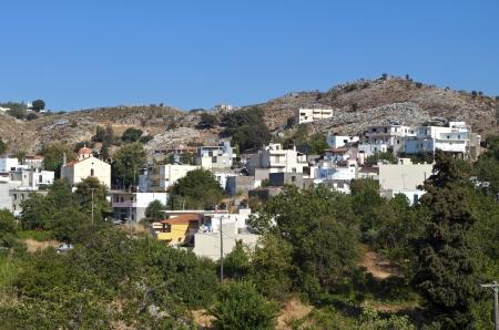 Anogia village at Crete island in Greece