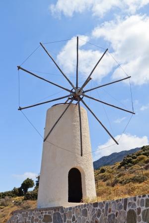 traditional windmill: Traditional windmill at Crete island in Greece