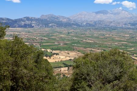 kreta: Lasithi plateau at Crete island in Greece Stock Photo