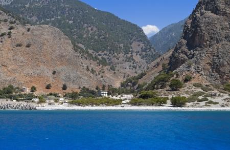 kreta: Aghia Roumeli, Samaria gorge at Crete island, Greece