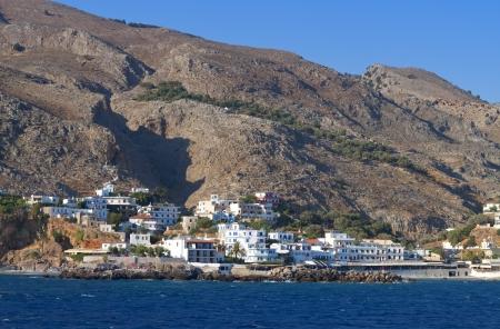 kreta: Sfakia port and village at Crete island in Greece