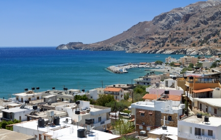 kreta: Tsoutsouros bay at Crete island in Greece Stock Photo