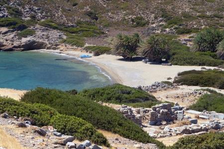 kreta: Area of ancient Itanos near Vai beach at Crete island