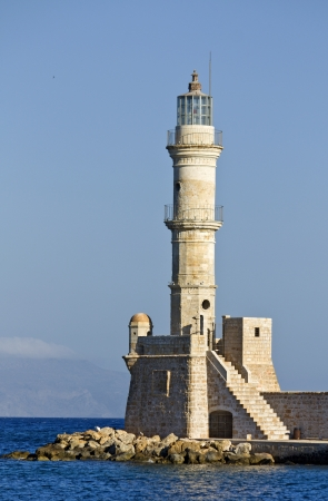 historica: The old Venetian lighthouse of Hania city at Crete