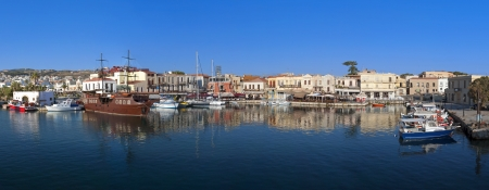 Rethymno city at Crete island in Greece photo