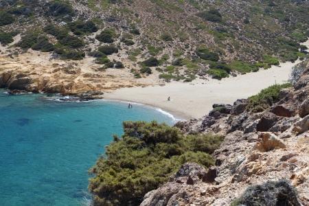 kreta: Vai bay and beach at Crete island in Greece Stock Photo