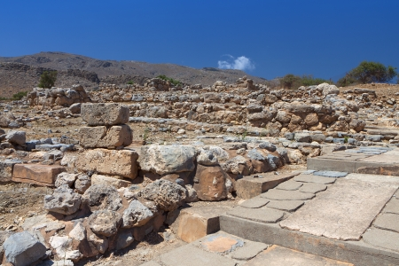 minoan: Ancient Minoan palace of Kato Zakros at Crete island