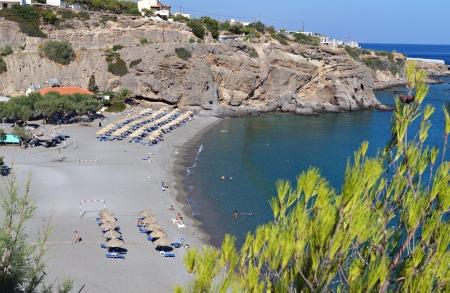 kreta: Koutsouras bay at Crete island in Greece