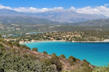 kreta: Mirabello bay at Crete island in Greece