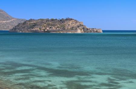 kreta: Spinalonga island, Elounda bay, Crete island, Greece